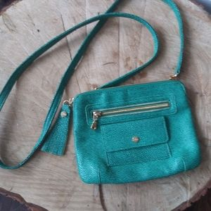 Abas made in the usa leather alligator purse